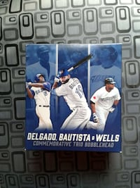 Delgado bautista &wells commemorative trio bobblehead Pick-up only Ontario, M2R 2J2