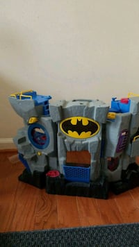 blue and gray Batman plastic toy