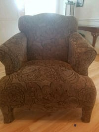 brown and gray floral sofa chair Knightdale, 27545