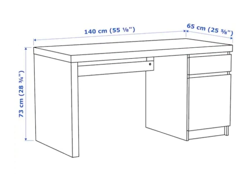 Ikea Malm Office Desk 7b348b57-79f7-4498-ba02-f309fa2122bf