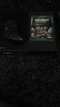 black Xbox One console with controller and game case Boyds, 20841