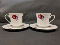 Darice Red Hat Society Teacup & Saucer  Essex