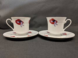 Darice Red Hat Society Teacup & Saucer