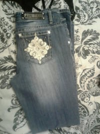 black and white denim jeans Anderson, 96007