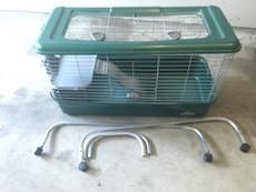 green and grey pet cage
