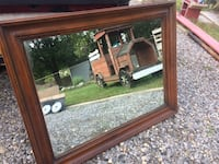 Pick up today Large heavy wood mirror  Selden, 11784