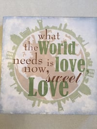 """Lyricology """"What the World Needs Now"""" wall art. 12""""x12"""". New With Tags 593 mi"""