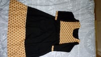 black and yellow long-sleeved dress Richmond Hill, L4S