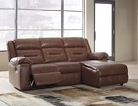 Reclining sectional $999 $1 Down no credit check financing Roslyn Heights, 11577