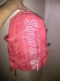 pink and white Supreme backpack Las Vegas, 89101