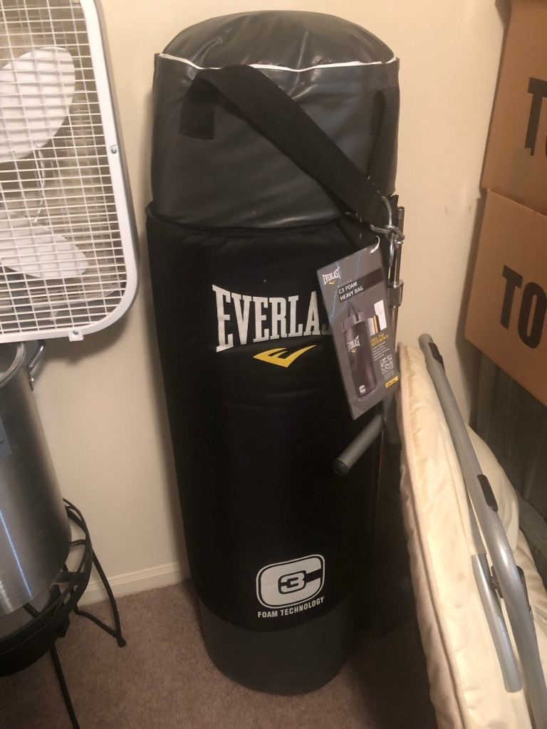 black Everlast heavy bag with stand for sale  Gainesville