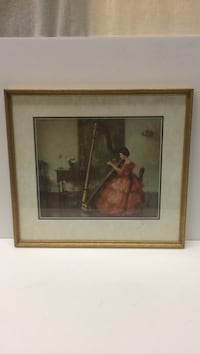 Framed Print - Marquerite S. Pearson - Woman playing Harp