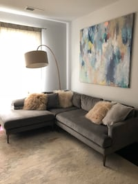 Gray West Elm Sectional Sofa Couch Silver Spring, 20910