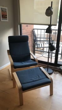 IKEA Poang Chair Armchair and Footstool Set