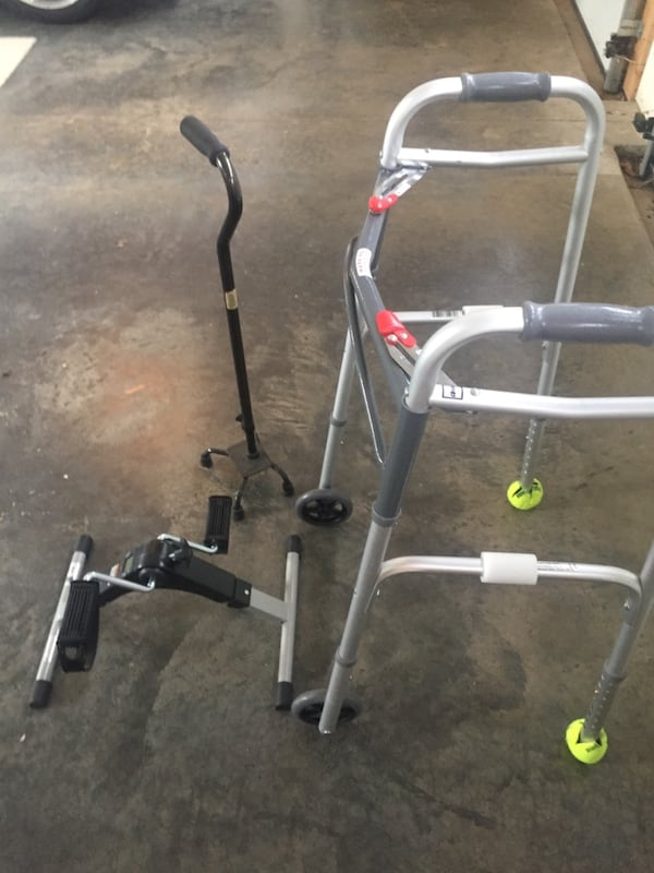 Walker, 4pronged cane & bike - great equipment for recovery & senior citizens  a5aee78b-6cb7-40ec-9721-2ab26105fcb7