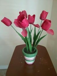 pink faux tulips centerpiece Rockledge, 32955