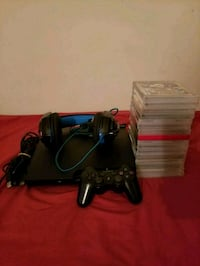 black Sony PS3 slim console with controller Stillwater, 12170