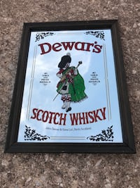 Dewar's Scotch Whisky Mirror Sign