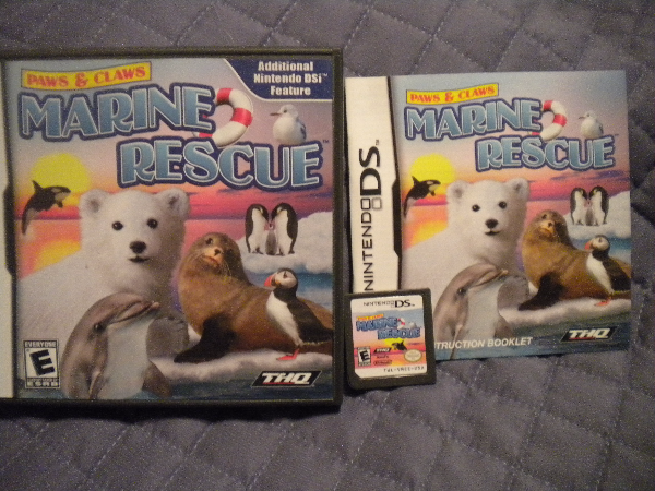 2 DS Games Original Cases Marine Rescue and Pampered Pets Munhall