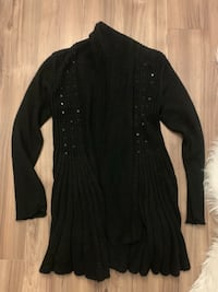Black long sequin knitted cardigan Vancouver
