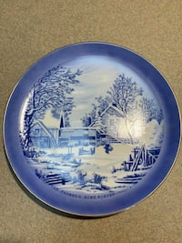 """Currier & Ives """"The Farmers Home - Winter"""" Plate Roscoe, 61073"""
