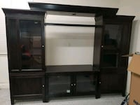 brown wooden TV hutch with flat screen television San Ramon, 94582