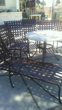 7 PC patio furniture set table ,4 chairs and 2 chl Las Vegas, 89108