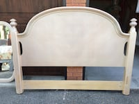 white and brown wooden bed frame Mississauga, L5B 4G7