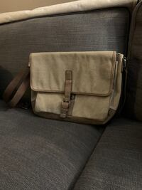 Brown/Tan Messenger Bag with strap
