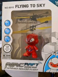 Action figure drone copter follows the heat of your hand
