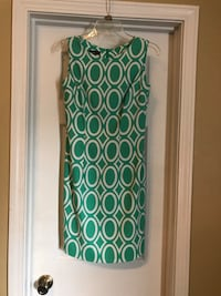Green and white sleeveless dress Size 4 Mobile, 36695