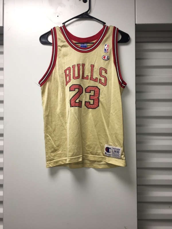 e3829f47fc3aaf Used Vintage Gold Jordan Champion Jersey Size Youth 14-16 for sale in  Jacksonville
