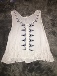 White and blue tank top Forest, 24551