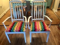 2 - refurbished Vintage Accent armchairs (freshly painted & reupholstered) not used after that Odenton, 21113