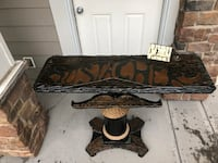 Unique Reclaimed Wood Mustache Table Chestermere, T1X 1G1
