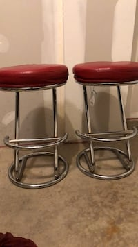two red leather padded bar stools Woodbridge, 22191