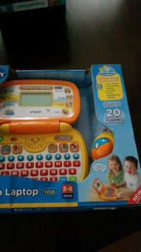 orange and white Vtech laptop toy box Lexington, 02421
