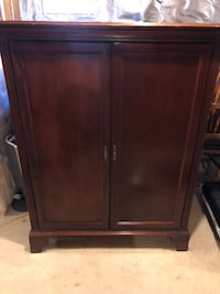 Higher End - Entertainment Center Armoire (SOLID WOOD) Stone Mountain