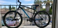 black and blue hard tail mountain bike Los Angeles, 91402
