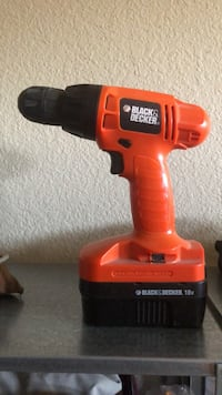 Black & Decker cordless drill with battery