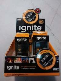 Ignite rechargeable USB lighter with 32 GB sd card
