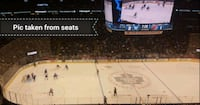 TORONTO MAPLE LEAFS TICKETS SECTION 310 ROW 9