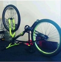 black and green X-Rated Mesh Jump bicycle