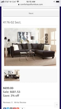 4176 Sectional  Mesquite