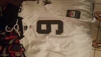 white and black NFL 9 jersey shirt