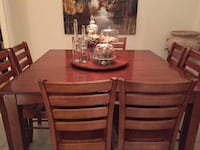 Hardwood Table, Chairs and Lazy Susan set. Montreal