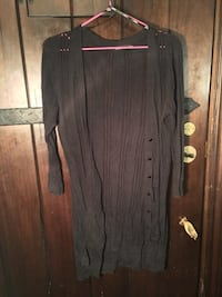 black long-sleeve cardigan Kelowna, V1Y 6X7