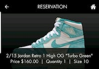 Jordan 1 turbo green Laurel, 20726