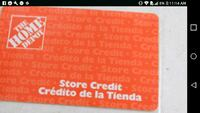 Home depot gift card and store credit. Los Angeles, 90011