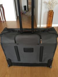 Gray and black soft-case luggage